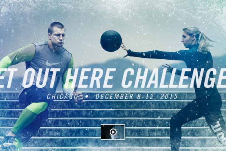 Nike #GetOutHere Campaign Winter Challenge